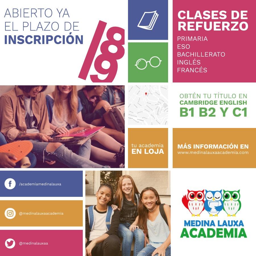 Abierto el plazo de inscripción para el curso 2018/19 - Noticias de la academia