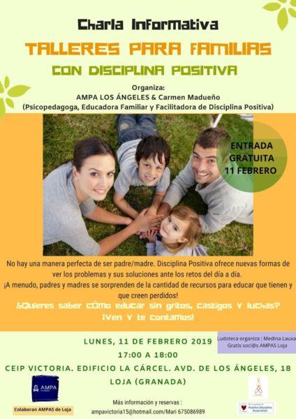 Charla informativa Taller para familias con disciplina positiva