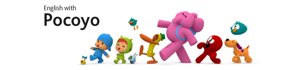 English With Pocoyo Header Banner With Text